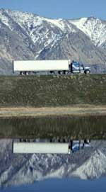 Big Rig Truck Wasatch Mountains Utah USA