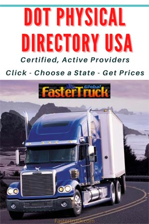 Fastertruck.com DOT Physical Locations Directory