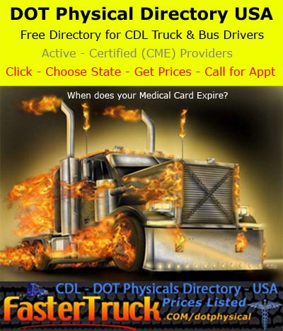 DOT Physicals Fastertruck.com Directory United States