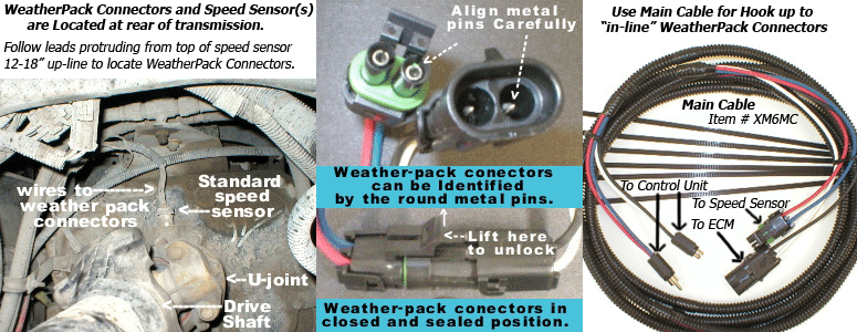 Weather-Pack Connectors are used on most older, pre 2001, class 8 trucks, including kw, freightliner, volvo, international, peterbilt, etc.