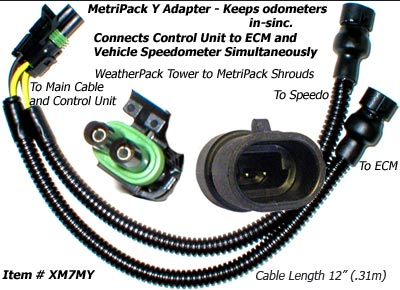 SafetyPass Pro XM7MY MetriPack Y Adapter Cable For Trucks With 2 Speed Sensors.