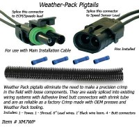 SafetyPass Pro XM7WP Weather-Pack Pigtails - For Splicing speed sensor connectors